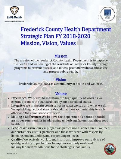 FCHD Strategic Plan FY 2018-2020 mission vision values