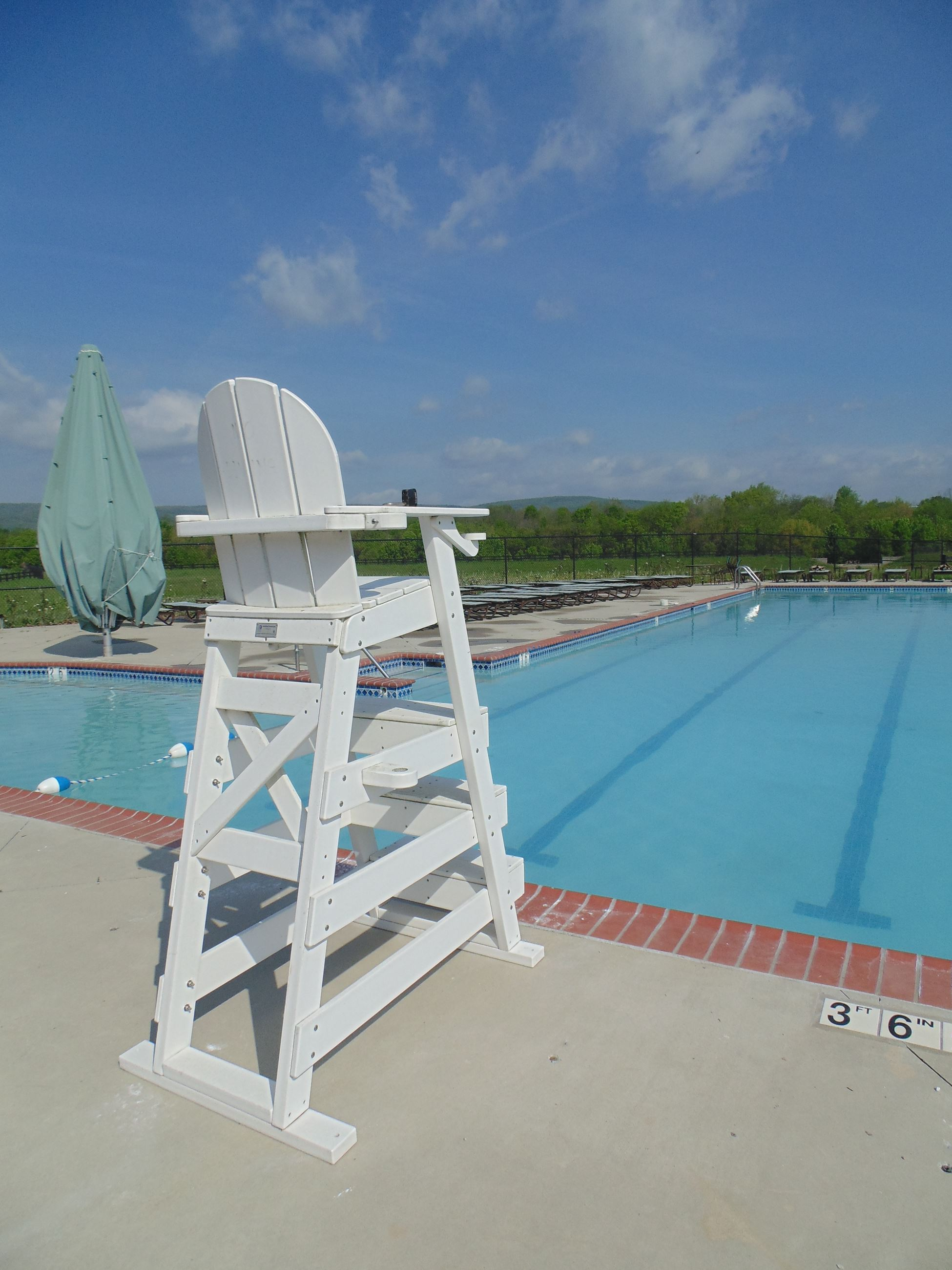 swimming pool lifeguard chair