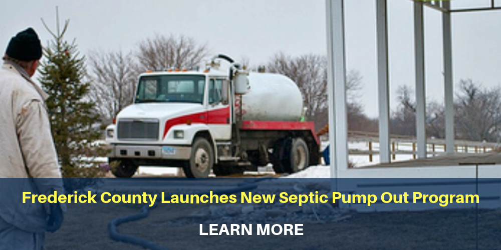 man outside next to septic tank. Frederick County Launches New Septic Pump Out program, learn more