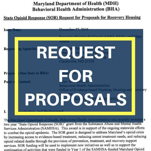 State Opioid Response request for proposals document