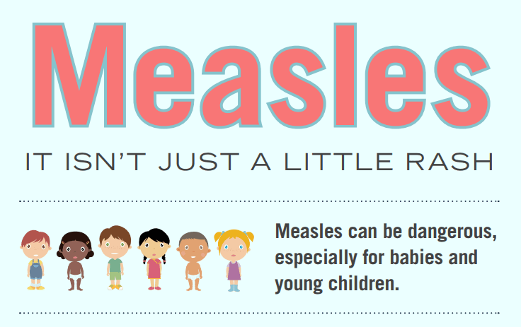 Measles: it isn&#39t just a little rash. Measles can be dangerous, especially for babies and young c