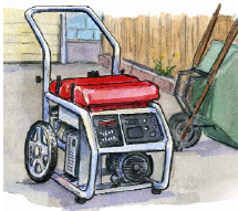 Picture of a portable generator